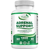 Adrenal Fatigue Supplements & Cortisol Manager – Pure Adrenal Support for Anxiety Relief, Cortisol Blocker, Mental Focus with Adaptogen Herbs - Ashwagandha, Rhodiola, Licorice Root & Gingseng