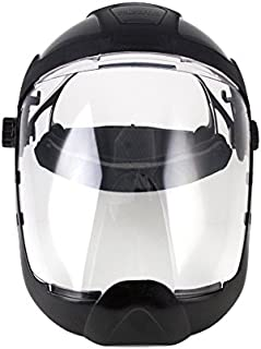 Sellstrom S32210 Clear Anti-Fog Polycarbonate Faceshield with Extended Chin Guard, Ratchet Headgear, ANSI Compliant
