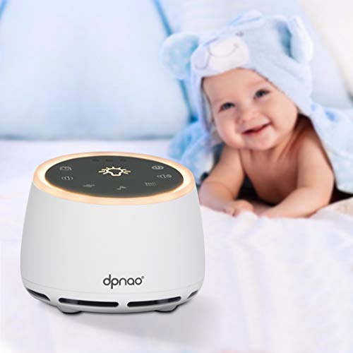 Relaxing Sleep Therapy for Adults /& Baby w//9 Natural Sound Settings Portable /& Compact Plug-In Nightlight White Noise Sound Machine Auto Timer For Home /& Travel Headphone Jack /& USB Cord blue