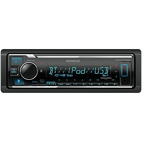 KENWOOD KMM-BT328U Bluetooth Car Stereo with USB Port, AM/FM Radio, MP3 Player, Multi Color LCD, Detachable Face, Built in Amazon Alexa, Compatible with SiriusXM Tuner