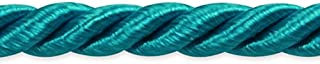 Expo International Charlotte Twisted Cord Trim, 20 yd/3/16, Teal