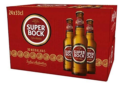 Caja De 24 Botellas De Cerveza Súper Bock 33 CL. Portugal Alcohol 5,6% Bebidas