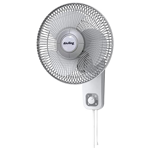 Air King 9012 Commercial Grade Oscillating Wall Mount Fan, 12-Inch , White