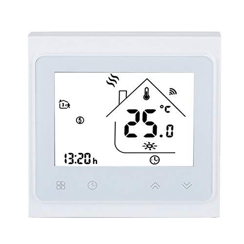 Termostato Inteligente, Termostato de Calefacción WiFi con Pantalla Táctil LCD, Programación de Asistencia Control de Aplicaciones para Control de Actuador de Válvula de Calentador Eléctrico