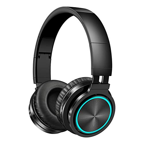 Wireless Headphones Strong Bass Bluetooth Headset Noise Cancelling Bluetooth Earphones Low Delay Earbuds for Gaming black