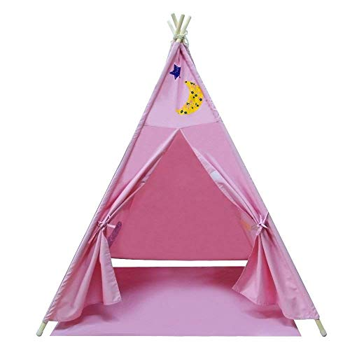 New Home Innovations Teepee Tent for Kids - 6 Pole Tipi Design Indoor Tee Pee Tent - 100% Chemical Free - Perfect for Kids