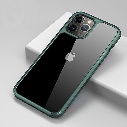 IRRIGATE Funda de silicona para iPhone iPhone 7/8/7/8Plus/X/Xs/Xsmax/Xr/11/11Pro/11Promax/12 (6.1)/12 (6.7) verde oscuro
