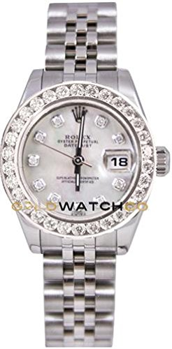 Rolex Ladys New Style Heavy Band Stainless Steel Datejust Model Jubilee Band Custom Added Mother Of Pearl Diamond Dial & 2CT Diamond Bezel