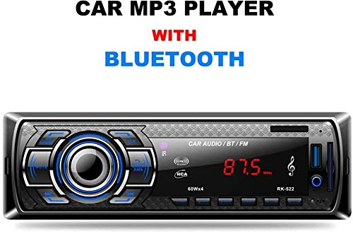 Radio de Coche, Arespark Autoradio Bluetooth Reproductor MP3 para Automóvil FM Estéreo Radio Manos Libres Audio
