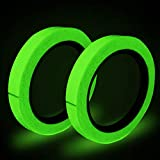 Fluorescent Tape, 10m × 15mm Waterproof Luminous Tape, Glow in the Dark Self-adhesive