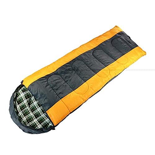 XHAEJ Bolso para Dormir a Cuadros, 5~15 ° C al Aire Libre de algodón Grueso Camping Dormitorio Interior Travel Travel portátil Sucio,luz