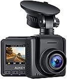 【最新進化版】AUKEY ドライブレコーダー 1080P ドラレコ 超ミニ 1.5インチ 高画質 170°超広角 WDR 夜間画像補正 LED信号対応 動体検知 24時間駐車監視 吸盤ホルダー Gセンサー USBカーチャージャー付き 2年保証 DRA5