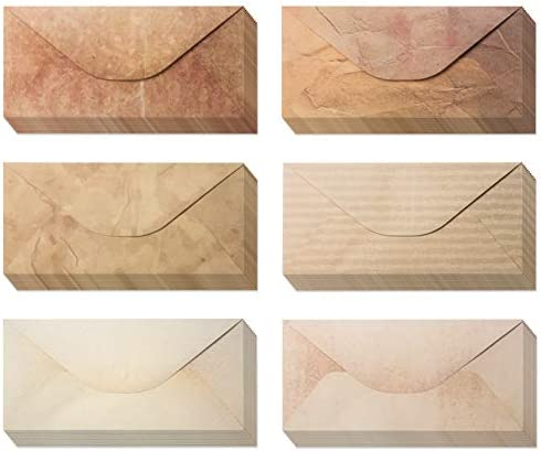 Pack 48 Vintage Envelopes Vintage Style Envelopes Classic Aged Envelopes in 6 Unique Designs product image