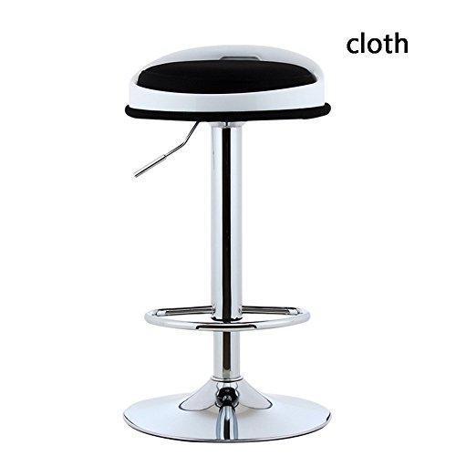 Stool Chaise Bar Tissu Noir Bleu Vert Rouge Jaune Creative 38.5 * 31 * 41 cm 38.5 * 31 * 63 cm Confortable Porter Durable Changer Son Chaussures Tabouret (Couleur : Noir, Taille : High)