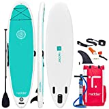 redder Tablas Paddle Surf Hinchables Doble Capa Zen Yoga Tabla Stand Up Paddle - Kit con Inflador, Carbono y Fibra de Vidrio Pala Ajustable 3 Piezas, Mochila de Viaje, Kit de Reparación