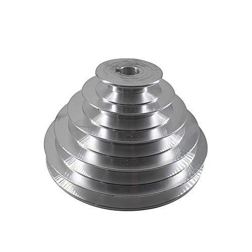 YAYANG Pulley 5 Schritte A Typ V-Gurt Pagoda Pulley 150mm Außendurchmesser Aluminium Riemenscheibe 14/16/18/19/20/22/24/25/28-mm-Bore Keilriemenrad Durable in use. (Bore Diameter : 20mm)