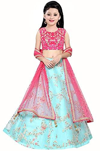 F Plus Fashion Net Latest Embroidered Girls Lehenga Choli