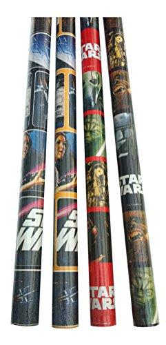 3 Rollen im Set Geschenkpapier 200 x 70 cm Geschenkverpackung (Star Wars)