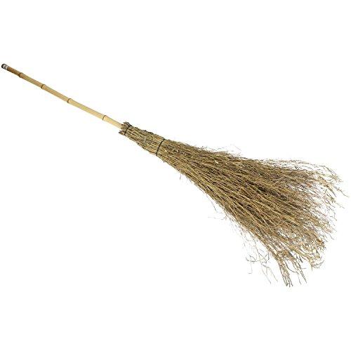千吉 ほうき 職人竹箒 SGB-3 掃き掃除用 長柄タイプ 竹 奥行25×高さ165×幅25cm