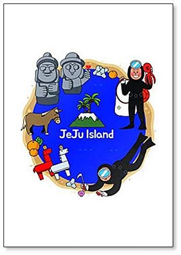 Jeju Island in Zuid-Korea met Dol Ha Reu Bang Classic koelkastmagneet