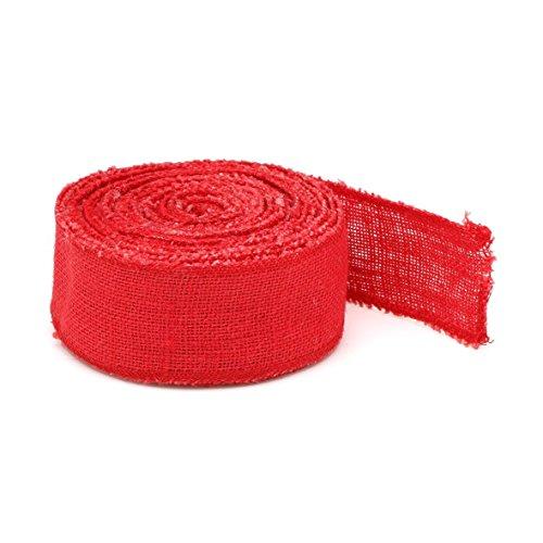 La cordeline 3262070305080 Ruban de Jute Rouge 230 GR/m²-6 cm x 10, 16x5x16 cm