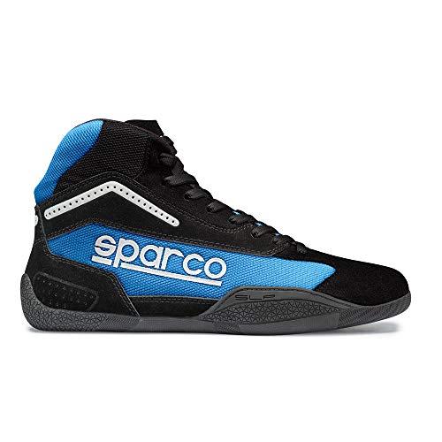 Sparco 00125939NRCE Botines para Karting, Negro/Azul, 39