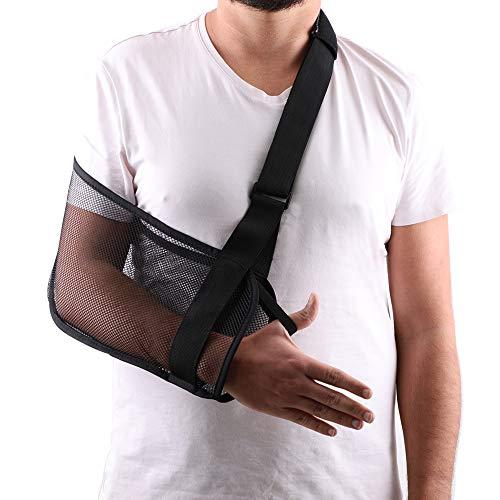 Mesh Arm Shoulder Sling Great Shower Bath Sling Used After Rotator Cuff Shoulder Surgery Arm Brace Support for Men and Women,Black