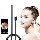 ZTHHS Otoscopio Visual de oído, eliminación de Cera de oído, cámara de oído, endoscopio de oído 1080P HD con 6 Luces LED, Herramienta limpiadora de Cera de oído, para Sistema Android