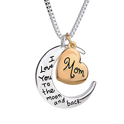 WPCASE Ladies Necklaces I Love You Mom Necklace Gift for Women Birthday Gifts for Her Necklace for Wedding Presents for Mum Wife Girlfriend Daughter