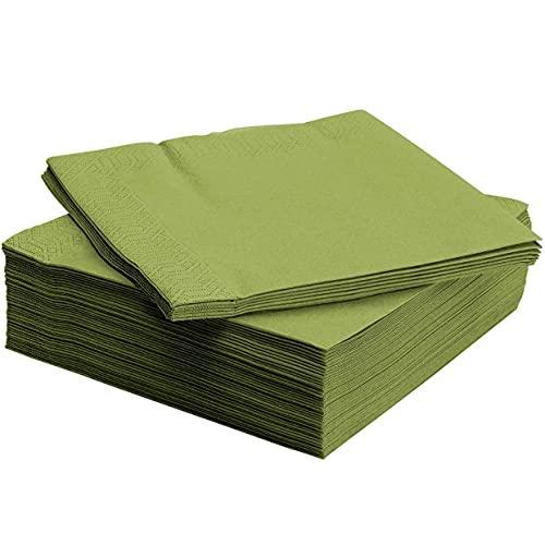 Ikea, tovaglioli di carta linea Fantastik, misura media, colore verde, confezione da 50 pezzi, 40 x 40 cm
