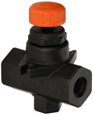 "Hayward Glass Filled Polypropylene Needle Valve, FPM Seal, 1/4"" Threaded from Hayward"