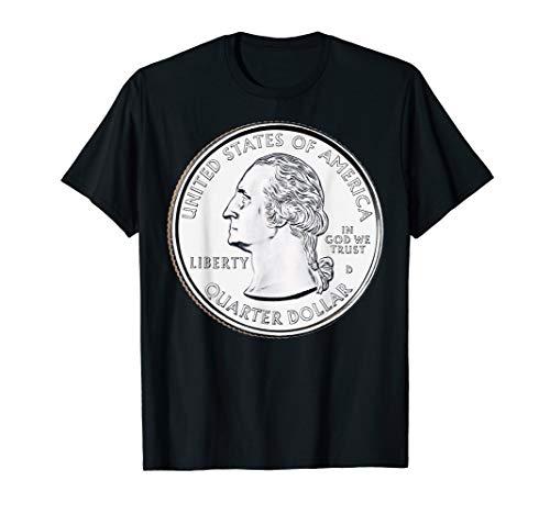 USA Quarter Dollar TShirt 25 Cents America United States T-Shirt