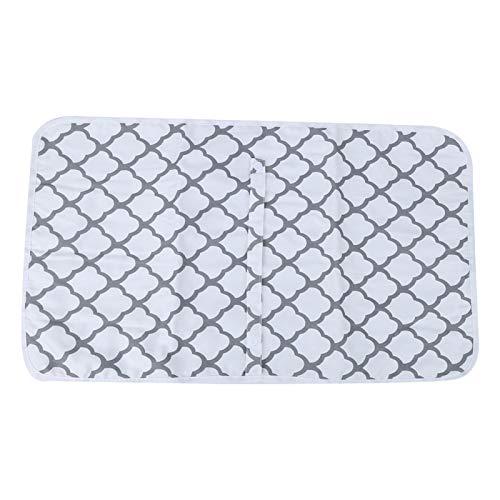 Bandas elásticas, tapete para cambiar pañales para bebés, para llevar(Geometric white)