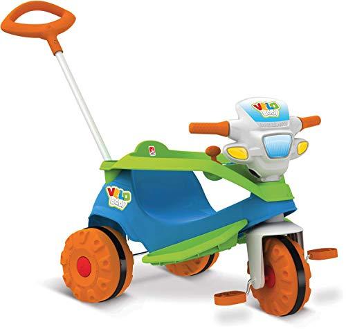 Triciclo Velobaby Passeio e Pedal, Bandeirante, Multicor