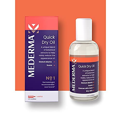Mederma Quick Dry Oil - For Scars, Stretch Marks, Uneven Skin Tone and...