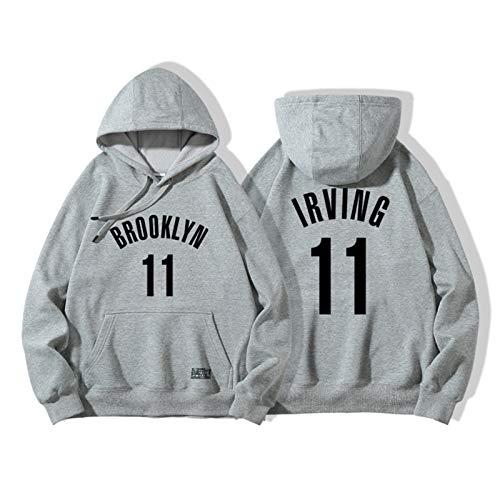 Kyrie Irving No.11 Brooklyn Nets Men's Basketball Hoodie Sudadera Sudadera Sudadera Suelta Manga Larga Entrenamiento Cómodo Casual Top (Color : D, Size : XL)