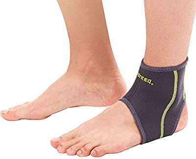 SENTEQ Ankle Brace Asain Slim Fit- Breathable Neoprene Sleeve Provides Support, Compression and Pain Relief. for Sprains, Strains, Arthritis and Torn Tendons. (Large)
