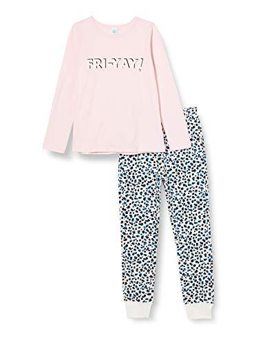 Sanetta Mädchen Sorbet Cooler farbenfroher Schlafanzug perfekt für eine Pyjama-Party mit Freundinnen, rosa, 128