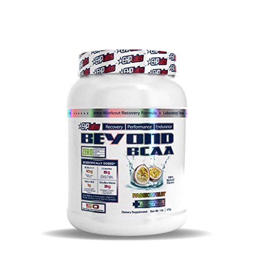 Beyond BCAA by EHPlabs - BCAA Powder for Performance, Recovery, Endurance & Muscle Building (Passionfruit)