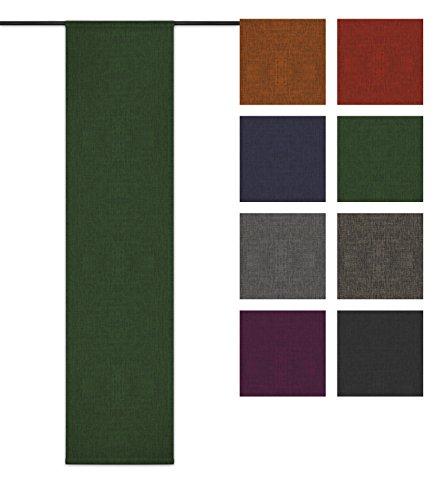 Rollmayer Blickdicht Leinenoptik Schiebevorhang/Flächenvorhang im 60x200CM Melange (Grün 333, IKEA System) Schiebepaneele Schiebegardine Vorhang Raumteiler