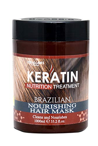 Keralooks professional keratin Brazilian nourishing hair mask (1000ml)