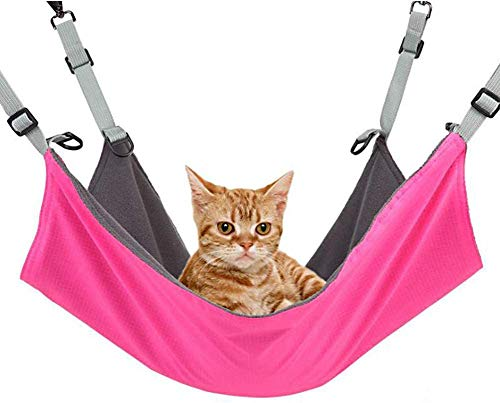 Wisdoman Cat Hanging Hammock Bed Comfortable Pet Cage Hammocks for Cats Ferret Small Dogs Rabbits...