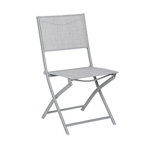 Hespéride Le Depot BAILLEUL - Chaise Pliante Modula Galet/Silver Mat