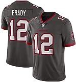 Dll Rugby Jersey NFL Camiseta de los Hombres de los Tampa Bay Buccaneers # 12 Tom Brady de Manga Corta Respirable cómodo con Capucha, Manga Corta Deportes V-Cuello de la Camiseta