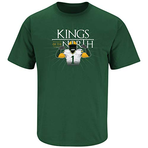 Nalie Sports Green Bay Football Fans. Kings of The North Forest Green T-Shirt (Sm-5X) (Short Sleeve, 2XL)