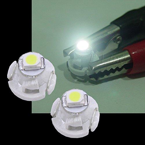 PA Lot de 10 ampoules T4.2 pour tableau de bord de voiture 5 couleurs 12 V (Blanc)