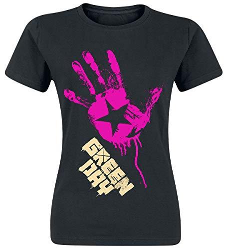 Green Day Star Hand Frauen T-Shirt schwarz M 100% Baumwolle Band-Merch, Bands, Nachhaltigkeit
