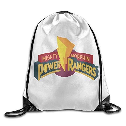 JHUIK Drawstring Bag Backpack,Power Ranger Logo Drawstring Sac à Dos Sac à Dos Sac à Cordon léger et Graphique