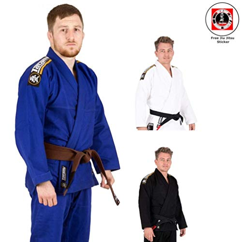 Tatami BJJ Gi Nova Absolute für Herren - Inklusive weißem Gürtel und BJJ Sticker - BJJ Gi Kimono Jiu Jitsu Anzug für Erwachsene von der #1 BJJ Marke Tatami - konform nach IBJJF (Schwarz, A4)