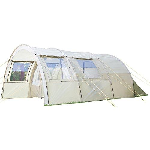 SKANDIKA Kemi 4-16050- Tenda Tunnel Campeggio zanzariera Cachi Nuova